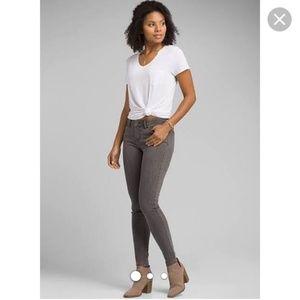PRANA Gray Denim LONDON Skinny Jeans sz 4 6